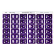 Avery U Side Tab Colour Coding Labels for Lateral Filing - 25 x 38mm - Purple - 180 Labels