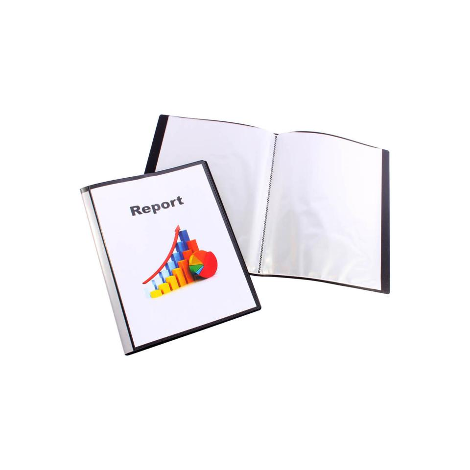 Marbig A4 Clearview Display Book Insert Front 50 Pages Black