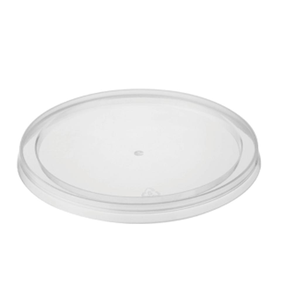 Castaway Microready Takeaway Food Containers Lids Round To Suit 70ml/120ml Clear Carton 1000