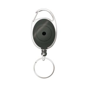 Corporate Express Card Reel with Snap Lock Key Ring Charcoal