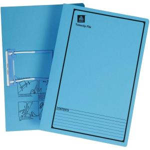 Avery Blue Tubeclip File with Black Print - Foolscap - 355 x 241 mm - 5 Files