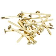 Officemax Brass Paper Fasteners 51mm Box Of 100