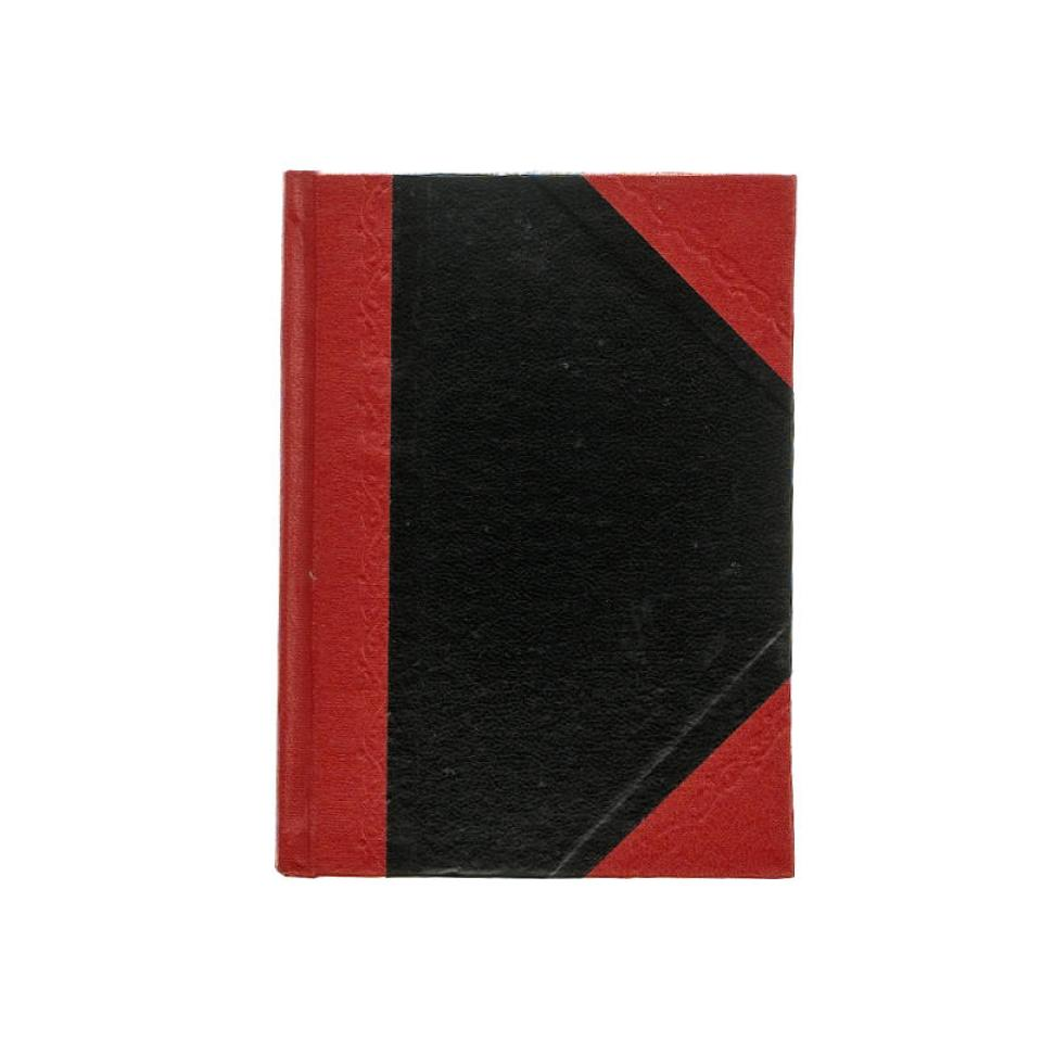 Cumberland Red & Black Notebook A6 Hardcover Ruled 200 Page