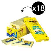 Post-It Notes Pop-Up Cabinet 76 x 76mm Yellow Pack 18