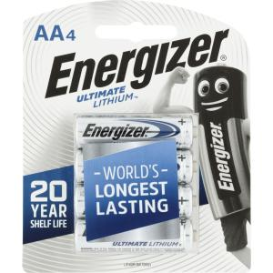 Energizer Ultimate Lithium 1.5V Lithium AA Battery Pack 4