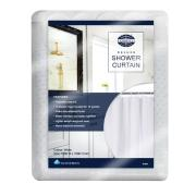 Compass Dobby Dot Shower Curtain 1800 x 1800mm White