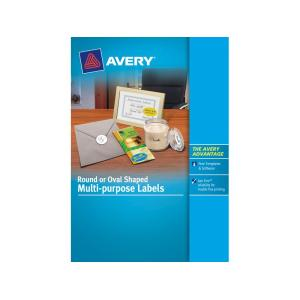 Avery 959146 White Round Laser & Inkjet Multi Labels 40mm Pack 10