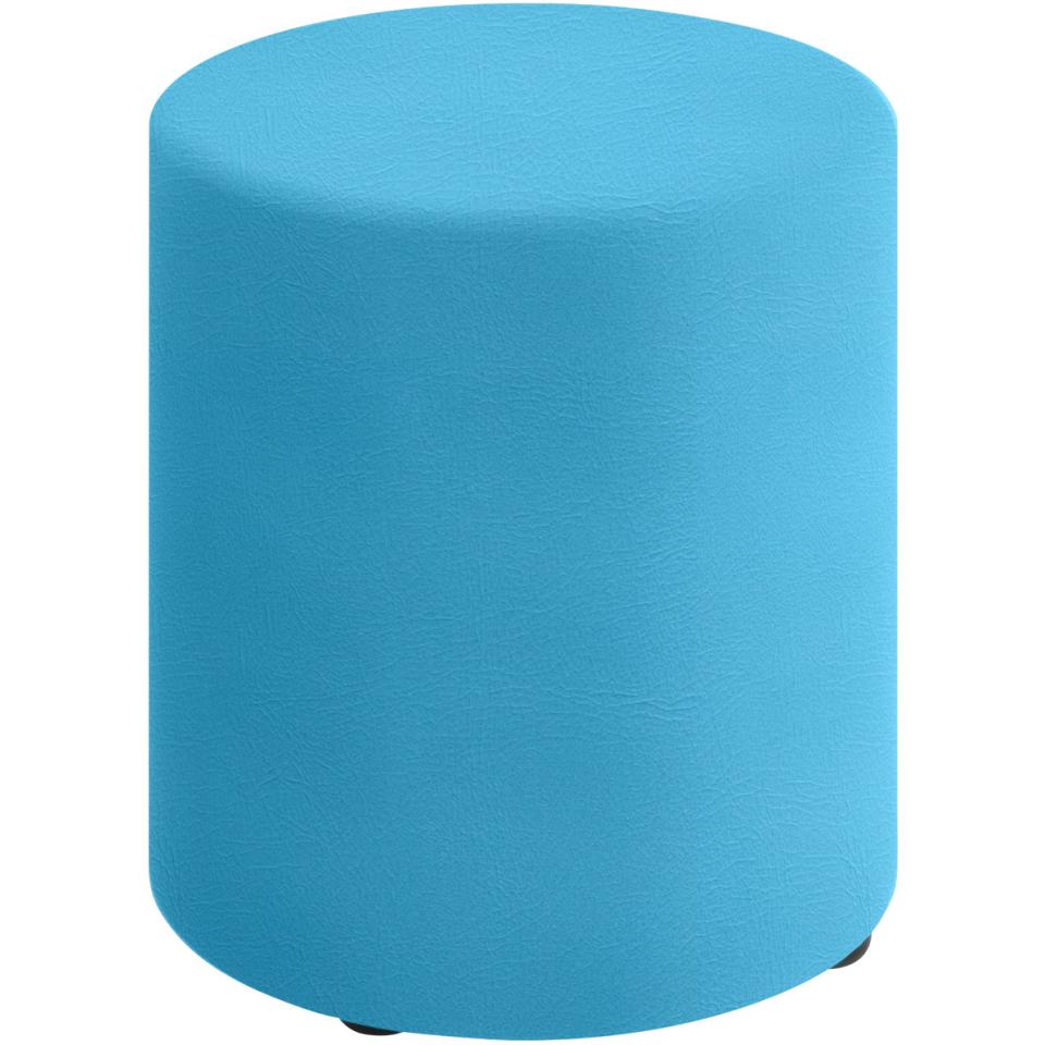 Sebel Big Softie Round Ottoman on Glides 430(h)x400(w)x400(d)mm Studio Encore Vinyl Lagoon