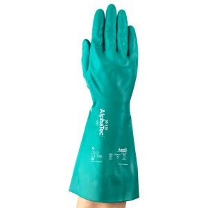 Ansell Alphatec 58-335 Nitrile Chemical Gauntlet Green Pair