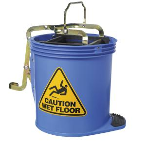 Oates Clean Contract Wringer 15L Mop Bucket Blue