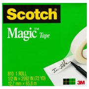 Scotch Magic 810 Tape 12.7mm x 66m