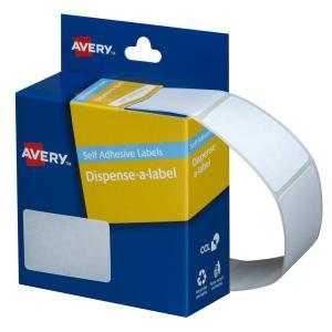 Avery White Rectangular Dispenser Labels - 49 x 35mm - 220 Labels - Hand writable