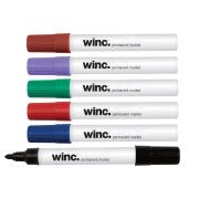 Winc Permanent Marker Bullet Tip 1.0mm Assorted Colours Box 12
