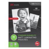 GBC A4 80 Micron Matte Laminating Pouches Pack 100