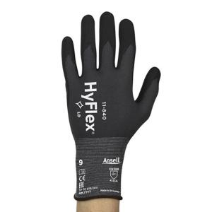 Ansell 11-840 Hyflex Gloves Fortix Palm Dipped Size 9 Pair