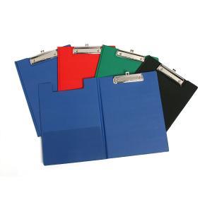 Marbig Clipfolder Foolscap PVC Cover Black