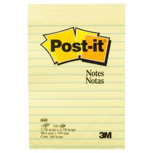 post it super sticky yellow lined sticky notes staples now winc