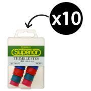Esselte Superior Thimblettes Assorted Sizes Box 10
