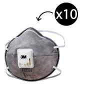 3M 9923v Particulate Respirator P2 with Nuisance Level Organic Vapour Relief Box 10
