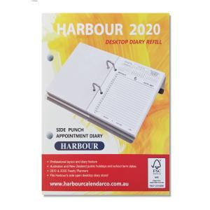 Harbour 2020 Desk Calendar Refill Side Hole 160 x 125mm