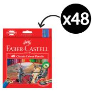 Faber Classic Colour Pencils With Sharpener Pkt48