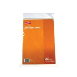 Staples convention name card holder inserts white pack 250 for Staples brand business cards template