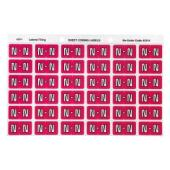 Avery N Side Tab Colour Coding Labels for Lateral Filing - 25 x 38mm - Magenta - 180 Labels
