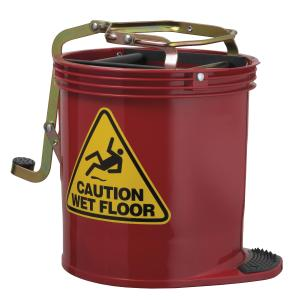 Oates Clean Contract Wringer 15L Mop Bucket Red