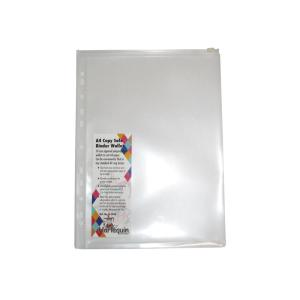 Colby Binder Pocket With Zip A4 Clear