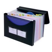 Marbig Expanding File With Storage Box 12 Pocket Black
