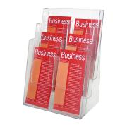 Esselte Brochure Holder 6 Compartments DL Clear