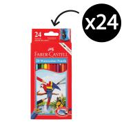 Faber Castell 16-114464 Pencil Water Color Sharpener + Brush Pack 24