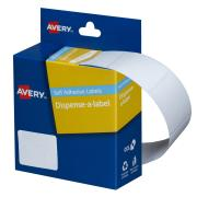 Avery White Rectangular Dispenser Labels - 30 x 19mm - 550 Labels - Hand writable