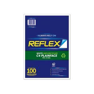 Reflex 100% Recycled C4 Plainface Pocket Envelope 324 x 229mm Peel-N-Seal Secretive Pattern Pack 100