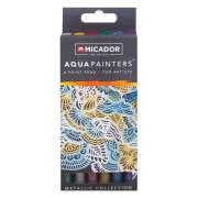 Micador For Artists Aquapainters Paint Pens Metallic Collection Pack 6