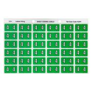 Avery 4 Side Tab Colour Coding Labels for Lateral Filing - 25 x 38mm - Light Green - 180 Labels