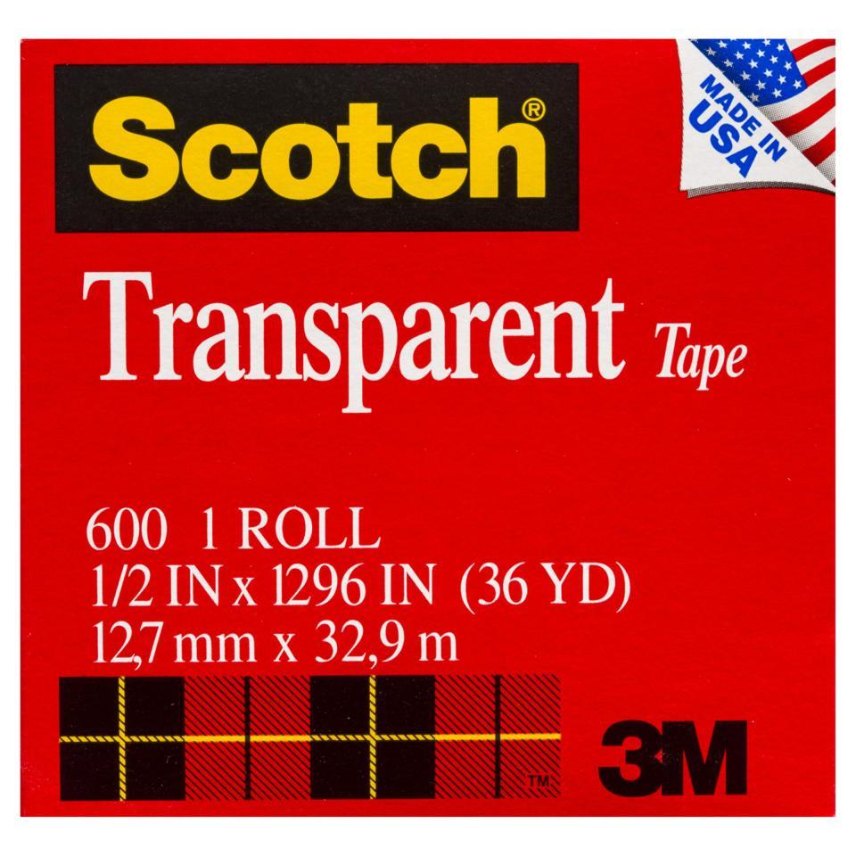 Scotch Transparent Tape 600 12.7mm X 32.9m