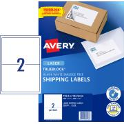 Avery Shipping Labels with Trueblock for Laser Printers - 199.6 x 143.5 mm - 200 Labels (L7168)