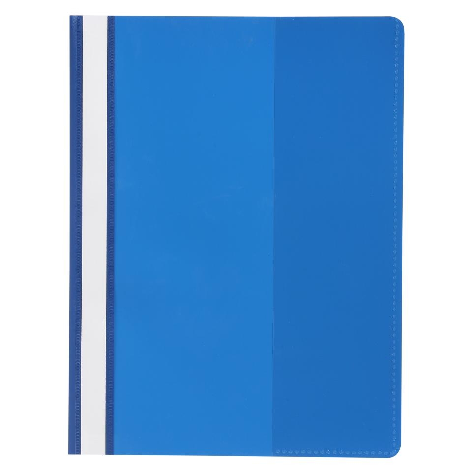 Marbig Flat File Deluxe A4 Clear Front Blue