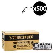 Austar Bin Liners All Purpose 72 Litre Black Roll 50 Carton 500