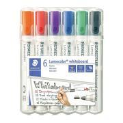 Staedtler 351 Lumocolor Whiteboard Marker Bullet 2.0mm Assorted Colours Set 6