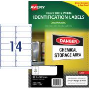 Avery White Heavy Duty Labels for Laser Printers - 99.1 x 38.1 mm - 350 Labels (L7063)