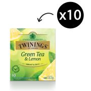 Twinings Green Tea & Lemon Enveloped Tea Bags Pack 10