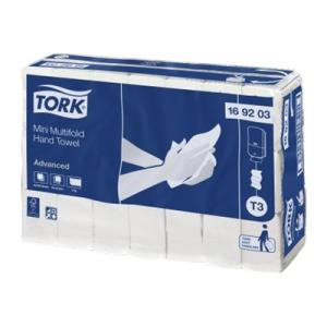 Tork 169203 T3 Advanced Mini Multifold Hand Towel 185 Shts Ctn 42