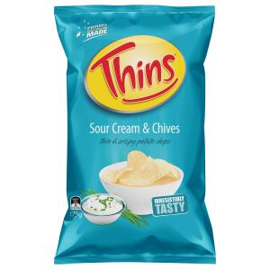 Thins Chips Sour Cream Amp Chives 175g Staples Now Winc