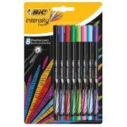 Bic Intensity Fineliner Pen Assorted Colours Pack 8