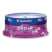 Verbatim DVD+R 4.7 GB / 16x / 120 Min - 25-Pack Spindle