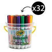 Crayola Deskpack Washable Broadline Coloured Markers Assorted Tub 32