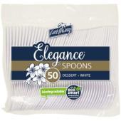 Castaway Elegance Plastic Dessert Spoon White Pack 50