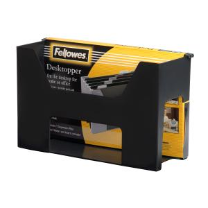 Fellowes Accents Desktopper With Files And Tabs Black